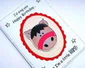 Birthday Card - Horse - Funny Horse Card - Handcrafted - Happy Birthday - Pony Riding