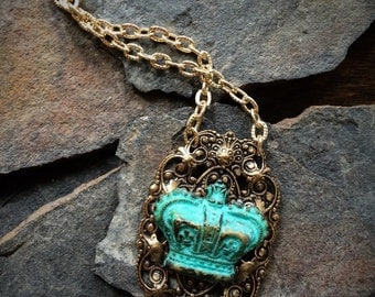 Old Crown Handmade Necklace