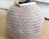 Easy Adjustable Pouf Ottoman - PDF Crochet Pattern - Instant Download