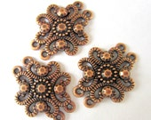 6 Antique copper connectors ethnic design 25mm x 32mm  B2916 boho chic, gypsy jewelry DIY-(YY3)