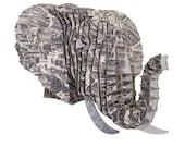 Eyan Elephant Jr - Rome Vintage Map - Medium