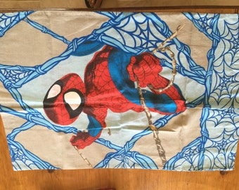 Spider Man Barbwire Reclaimed Pillowcase/ Fabric