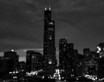 Abstract Skyline 24x36