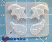 SALE Jody's New Bat wings and Kawaii Wings Set Handmade Plastic Mold