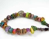 BARGAIN BUNDLE - Ceramic Clay Bead Mix - Craft Jewellery Beads  No. 66