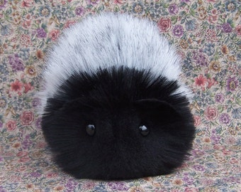 Charcoal Gray and Black Guinea Pig Handmade Plush Toy