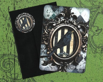 Halloween, Halloween Raven, Halloween Greeting Cards, Raven Stickers
