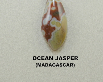 Ocean Jasper Freeform Designer Cabochon for Jewelry Artisans.
