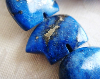 11. Afghanistan Lapis 10x14mm Bear Shape 2pcs Stone Bead