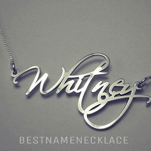 Name Necklace Monogram Necklace  BestNameNecklace USA