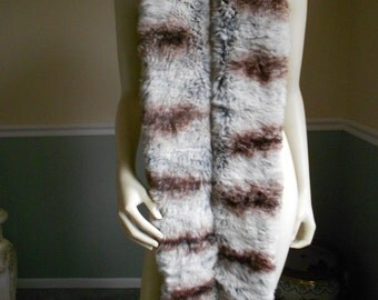 Fur Scarf  / Large Collar with Matching Hat / Boa Wrap