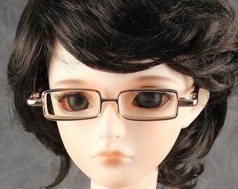 New fashion Full-Rim Dolls Glasses fit 1/3 BJD SD Super Dollfie Gold