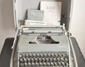 Vintage Olympia CURSIVE typewriter Made in Germany SM3 With Metal Case