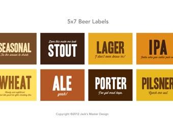 Beer Tasting Labels