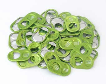 50 light green monster energy tabs shipped from Europe - lime green, soda tabs, can tabs, ring pulls, pull tabs