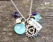 Fifth Chakra Healing Necklace, Find Your Voice Necklace, Chakra Jewelry, Yoga Jewelry, Chakra Necklace, Healing Necklace, Gemstone Necklace
