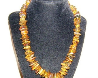 Free Shipping! Dominican Amber and Sterling Silver Necklace