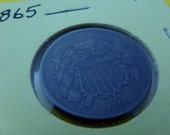 1865 Two Cent. FREE SHIPPING USA