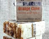 Orange Clove Small Soap -  Kaolin Clay and Essential Oils - Vegan Friendly!