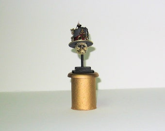 Steampunk Skeleton In top Hat - 1/12th scale