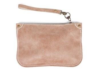 Women Leather clutch/ women Makeup bag/ Women Passport Travel Wallet / Woman's Gifts