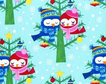 SALE - Michael Miller - Christmas Lovebirds in Winter