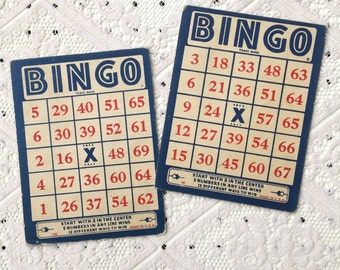 SALE: Vintage BINGO Cards (Set of 2)