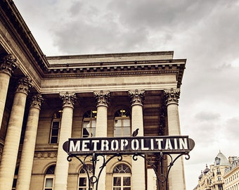 Paris Metro Art, Paris Travel Photography, Paris Metro Sign, Paris Metropolitain Print, Paris Decor, Wanderlust Paris Art - Metropolitain