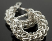 Half Price SALE Sterling Silver Chainmaille Earrings - Swag Full Persian Posts Style Kit or Ready Made - 100% Guarantee