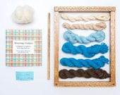Weaving Kit With Loom for Wall Art Weaving- River Rise (Blue/ Brown Colors)