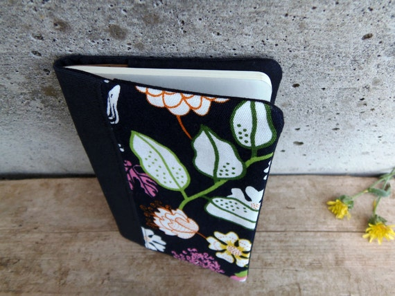 Moleskine cahier cover pocket size made of black fabrics