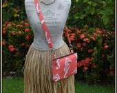Coral Colored Seahorse Cross Body Bag - iPad Mini - Day Bag