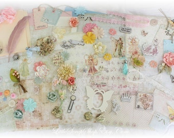 Prima Princess Embellishment Kit/File Folder Mini Album, *110 Items* Scrapbooking, Premade, Kits,LittleScrapShop