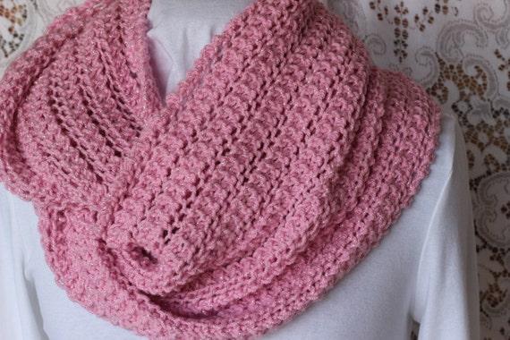 Infinity Scarf Knitting Pattern Size 8 Needles : Lace Knit Scarf Pattern Knit Cowl Patterns Free Knitting
