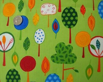 Fabric Kaufman Animal Party 2 Trees Green