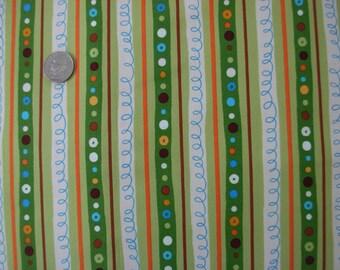 Fabric Kaufman Animal Party 2 Stripes