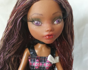 """Repainted and Rerooted Custom Monster High Doll OOAK """"Chelsea"""" - Repaint, Reroot, Upcycled, Fantasy, Art Doll For Collectors/Display"""
