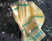 Soft Yellow & Green Baby Afghan