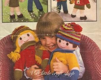 Dolls knitting pattern. Instant PDF download!