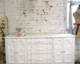 Painted Cottage Chic Shabby French Dresser DR832