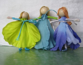 Kit -  Flower Fairy Doll, Waldorf Doll, Christmas ornament, small fairy doll