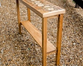Oak slice table