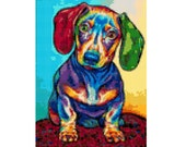 Dog Dachshund Cross Stitch Pattern ( Printable PDF ) - Immediate Download from Etsy