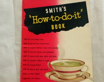 Vintage Smiths Cookbook. Smiths How To Do It Book. Smiths Peas, Beans, Lentils & Barley
