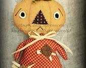 Primitive Pumpkin Doll | Fall Decor | Pumpkin Head Doll