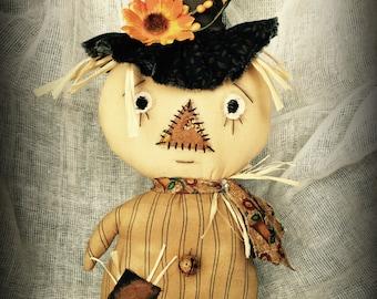 Primitive Stumpkin Scarecrow Doll