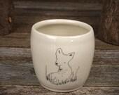 handmade ceramic cup: deer