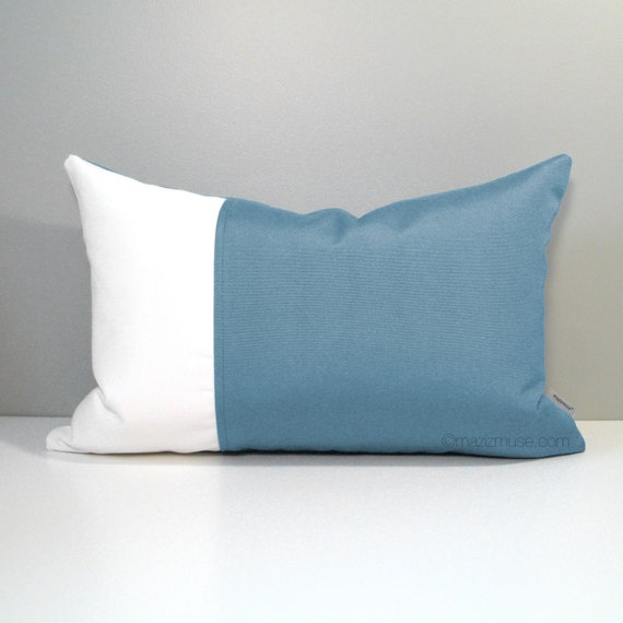Mineral Blue Outdoor Pillow Cover Decorative Throw Pillow