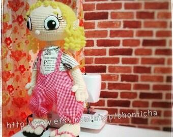 Elfie cloth doll 22 inches - PDF amigurumi crochet pattern