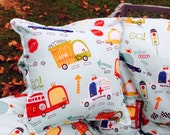 Boutique (On Our Way, Rescue, firetruck, ambulance, police ) Shopping Cart Cover